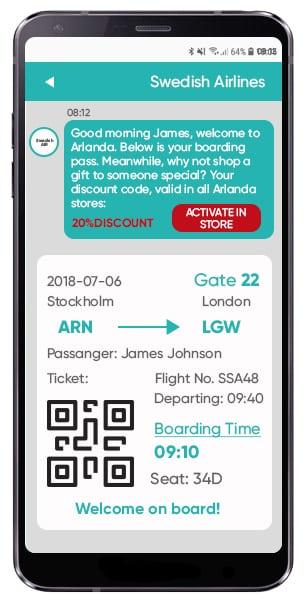 RCS teknik boarding pass