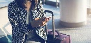 Resenär tar emot bokning via SMS