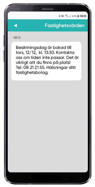 Avisera besiktning via SMS