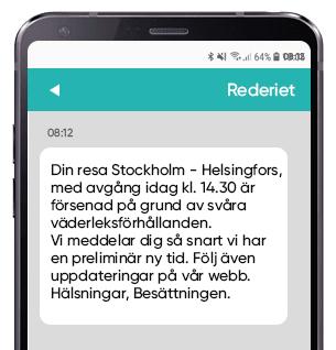 Försening vid resa skicka sms