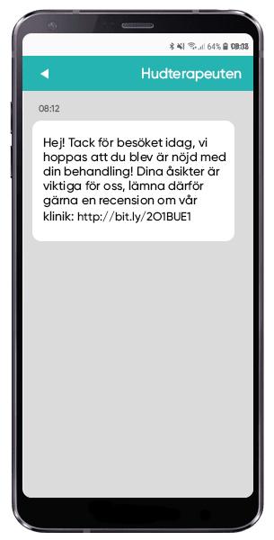Be om kundrecensioner via SMS