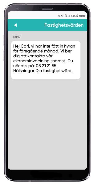 SMS för betalningspåminnelser