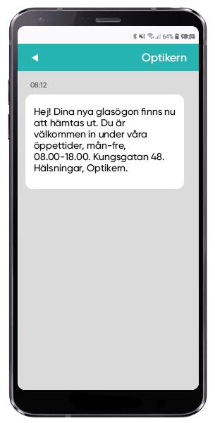 SMS från optikern