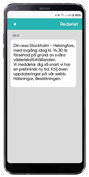 Skicka SMS till resenärer vid försening
