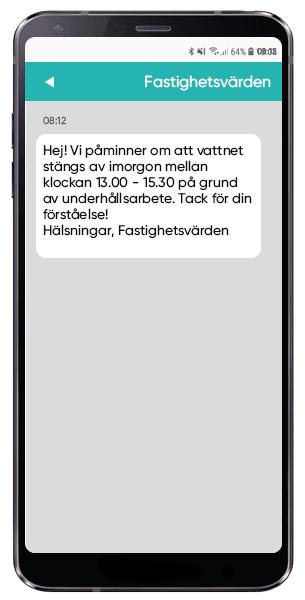 SMS för att avisera om störningar