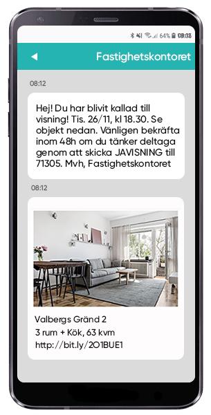 Använd SMS inför lägenhetsvisningar