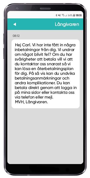 Påminna om betalning via SMS